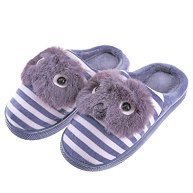 297857b8e31 SCOWAY Toddler Kids Boys Girls Slippers Cute Cartoon Animal Soft Warm  Non-Slip Winter Indoor