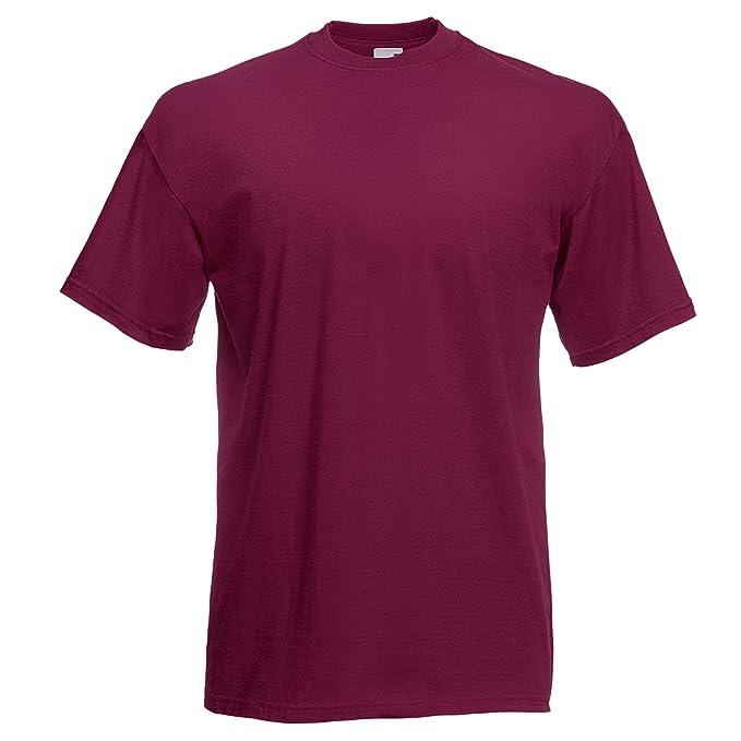 Fruit Of The Loom - Camiseta Básica de manga corta modelo VALUEWEIGHT - Hombres: Amazon.es: Ropa y accesorios