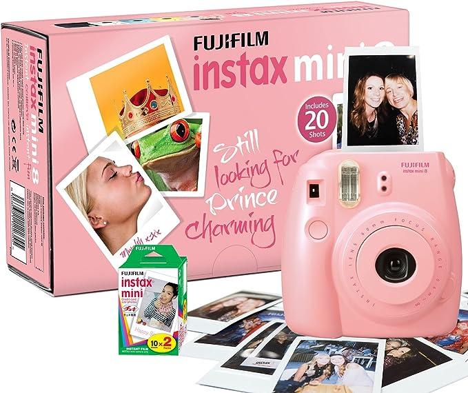 Fujifilm Instax Mini 8 - Cámara instantánea (60mm f/12.7 mm, 0.37x ...