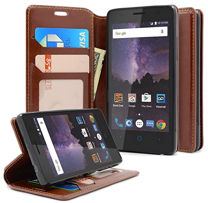 ZTE Majesty Pro Case, ZTE Tempo Case, NageBee [Kickstand Feature] Premium  PU Leather Flip Fold Wallet Case with [ID&Credit Card Slot] Case For ZTE