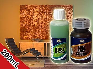 Rost Effekt Farbe Rost Optik Wand Edel Rost Selber Machen
