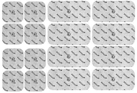 16 Electrodos para BEURER VITALCONTROL - Parches TENS EMS (8 * 50x50mm + 8 *