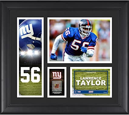 f7e4ec7b8 Lawrence Taylor New York Giants Framed 15 quot  x 17 quot  Player Collage  with a Piece