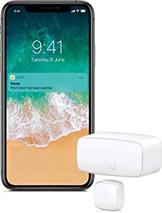 Eve Door & Window - Smart and Wireless Contact Sensor for Windows and Doors, Automatically Trigger Accessories and Scenes, get Notifications, Bluetooth, no Bridge Needed (Apple Home)