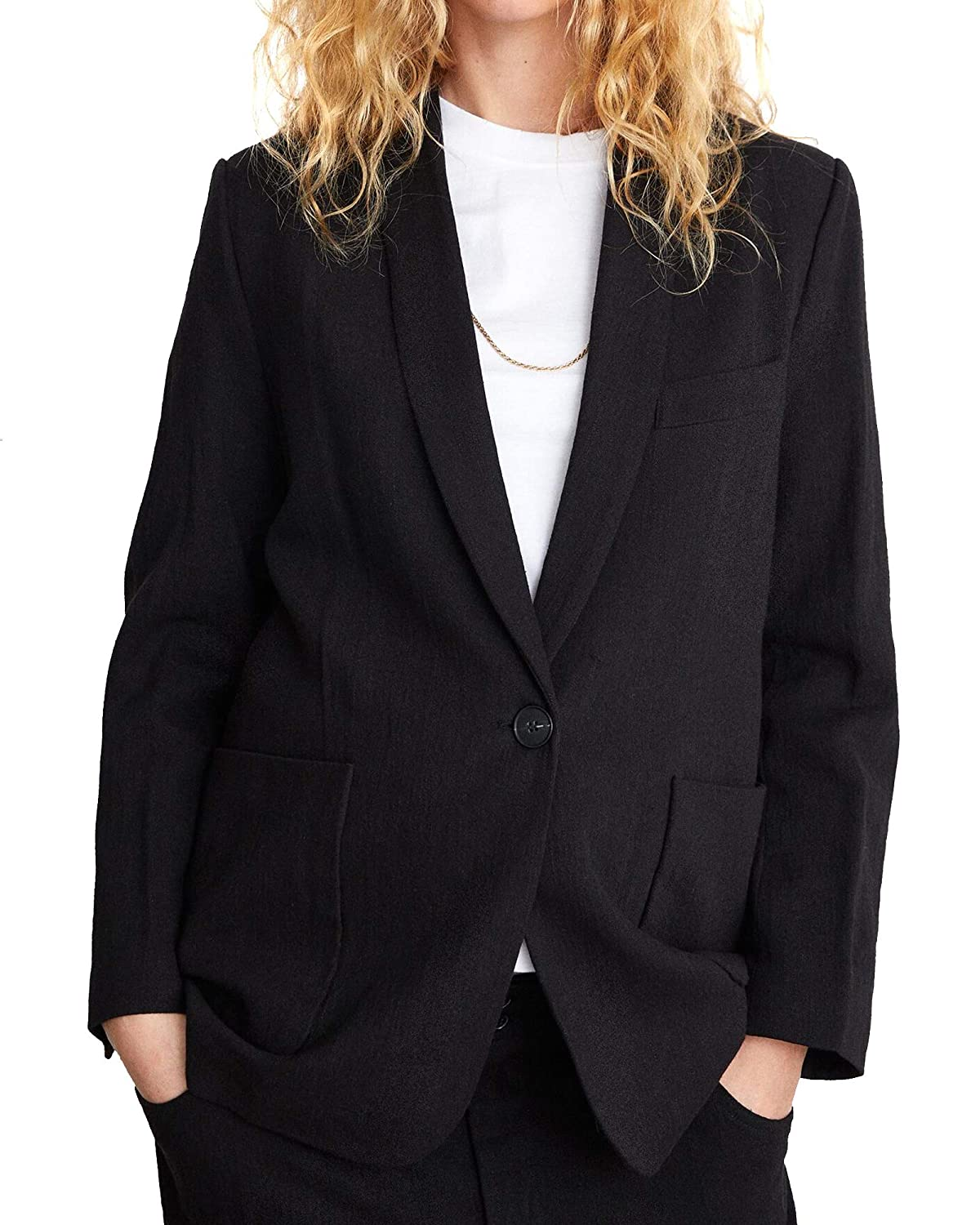 Zara Women Blazer with pockets 2761//057 Medium