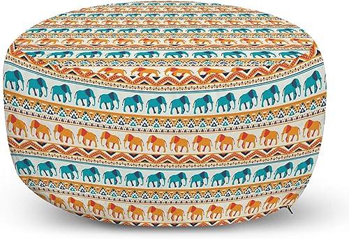 Ambesonne Elephant Ottoman Pouf