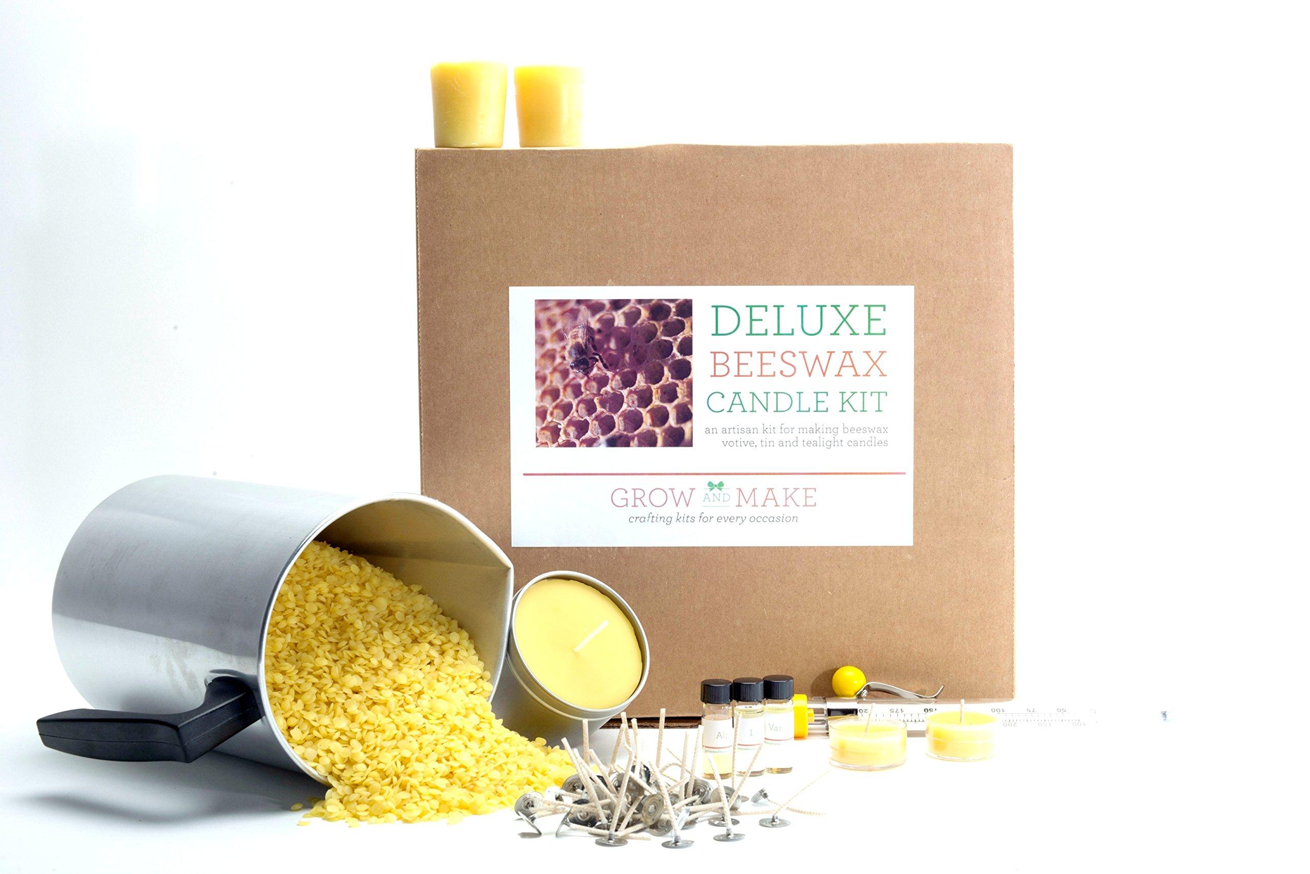Grow and Make DIY Beeswax Candle Making Kit - Make 68 candles this DIY Kit!