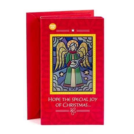 Amazon hallmark christmas greeting card light and song card hallmark christmas greeting card light and song card stained glass angel m4hsunfo