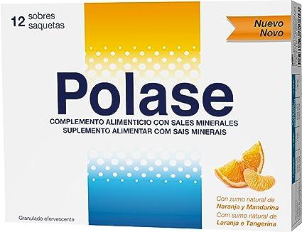 Polase, Complemento Alimenticio con Magnesio y Potasio, 12 sobres granulados