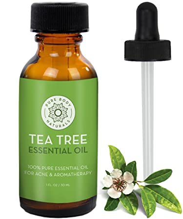 Tea Tree Essential Oil, Tea Tree Oil for Acne, Hair and Diffuser, 100
