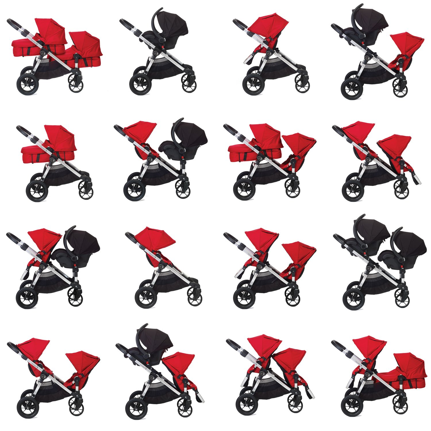 amazoncom baby jogger city select stroller in onyx tandem strollers baby - Double Stroller Frame