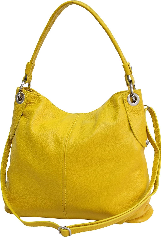 AMBRA Moda bolso de las mujeres, bolso de mano,bolso de hombro, shopper GL012 Amarillo