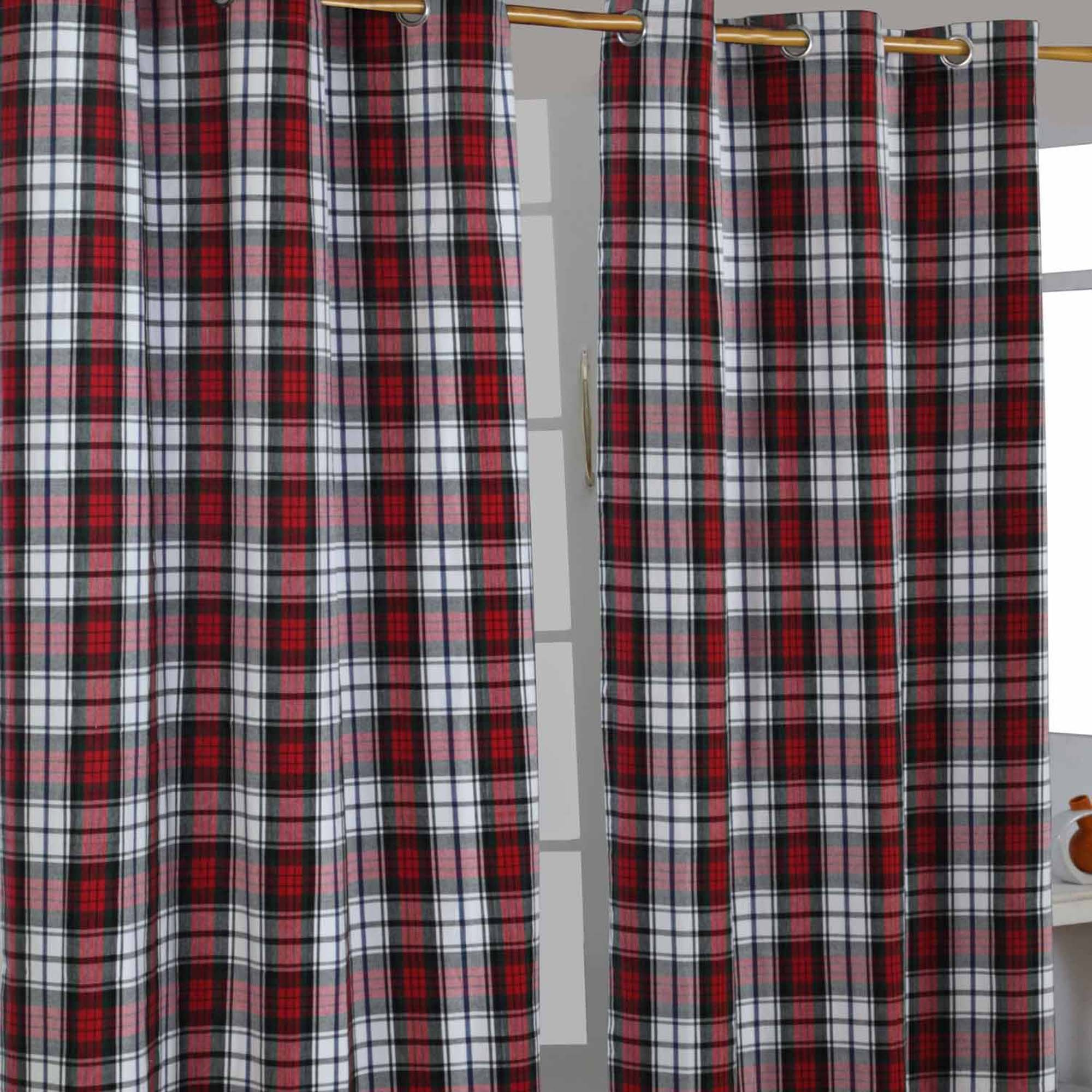 Homescapes Pair Of 100 Cotton Curtains