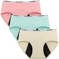 INNERSY Big Girl Menstrual Period Hipster Panties Leakproof Sanitary Underwear for Teen