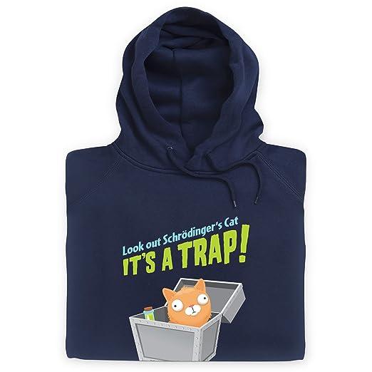Schrodingers Cat - Its A Trap! Sudadera con Capucha, para Hombre: Amazon.es: Ropa y accesorios