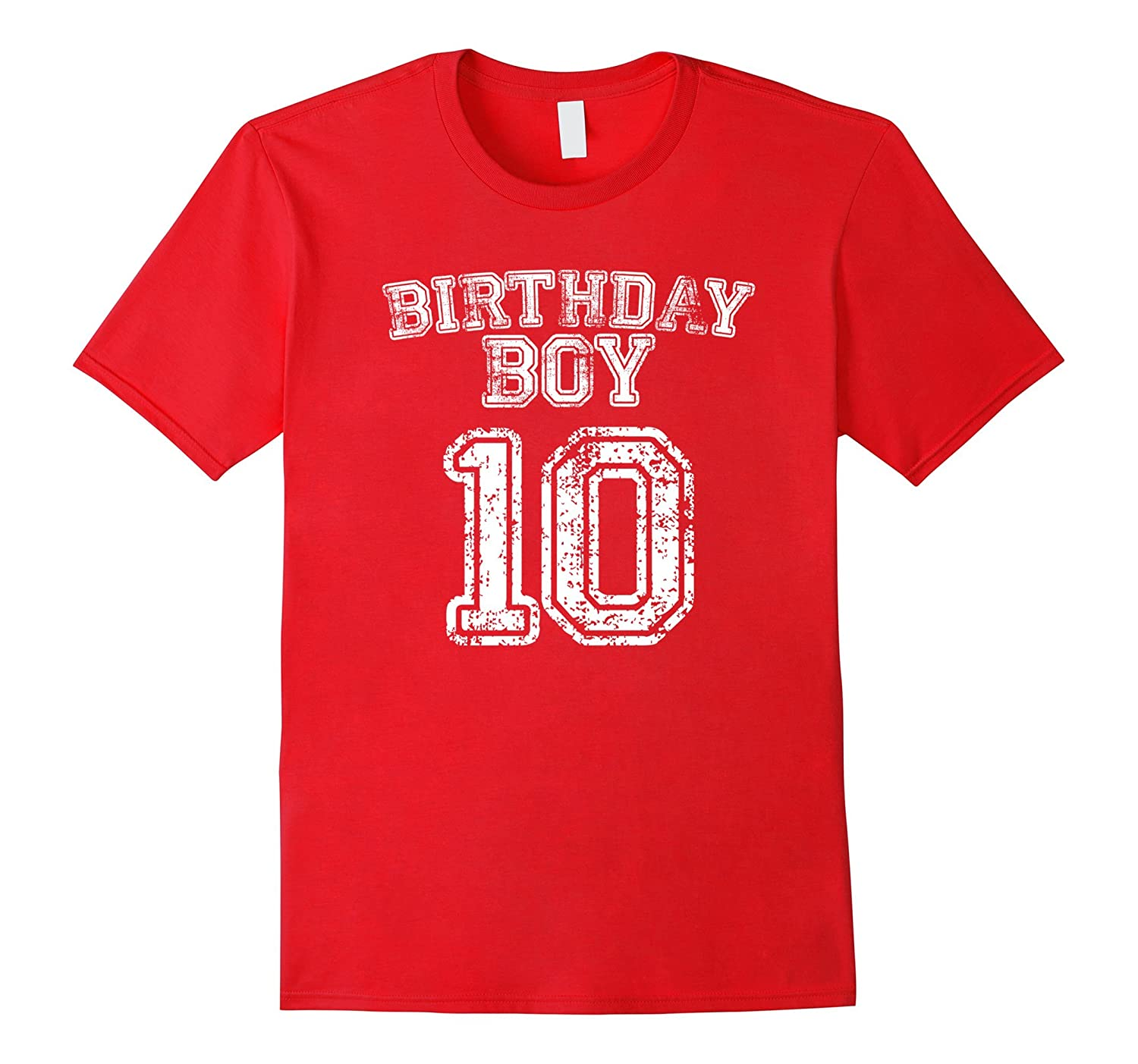 10th Birthday Sports Jersey T Shirt 10 Year Old Boy Tee RT Rateeshirt