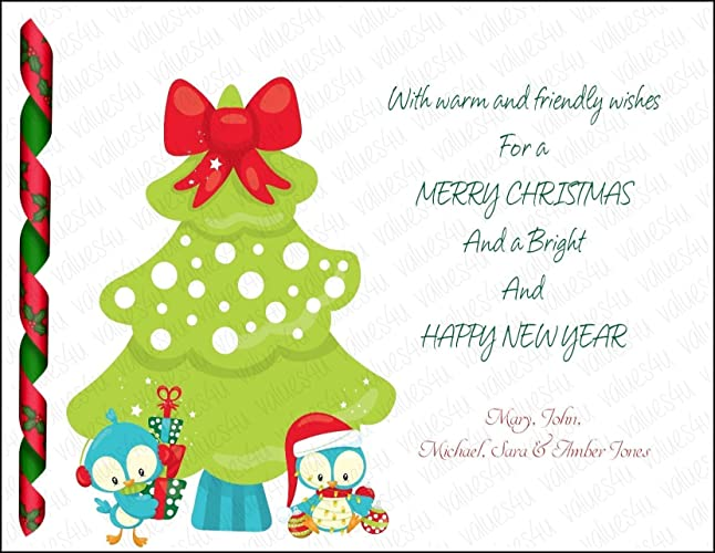 personalized christmas card 1010 digital print your own or printed packs of