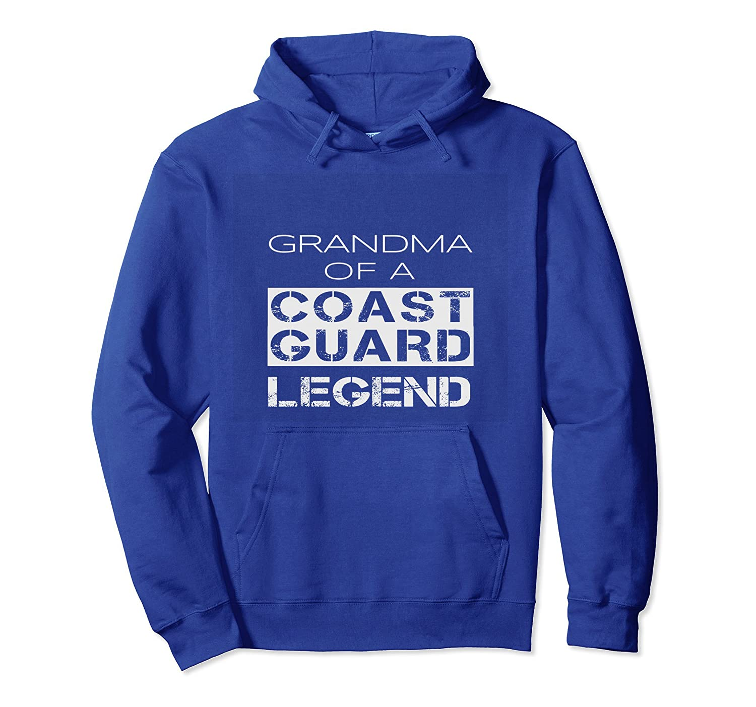 Coast Guard Grandma Grandmother Gift Hoodie Distressed Text-TH
