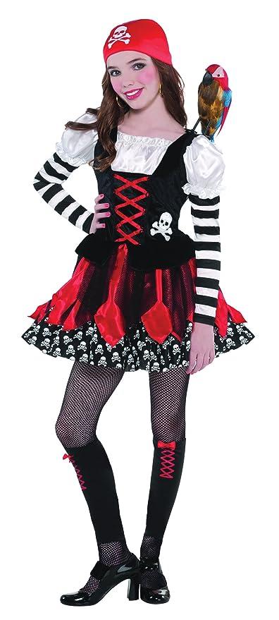 Amazon.com: Crossbone Cutie Costume - Child Large 9 -11 ...