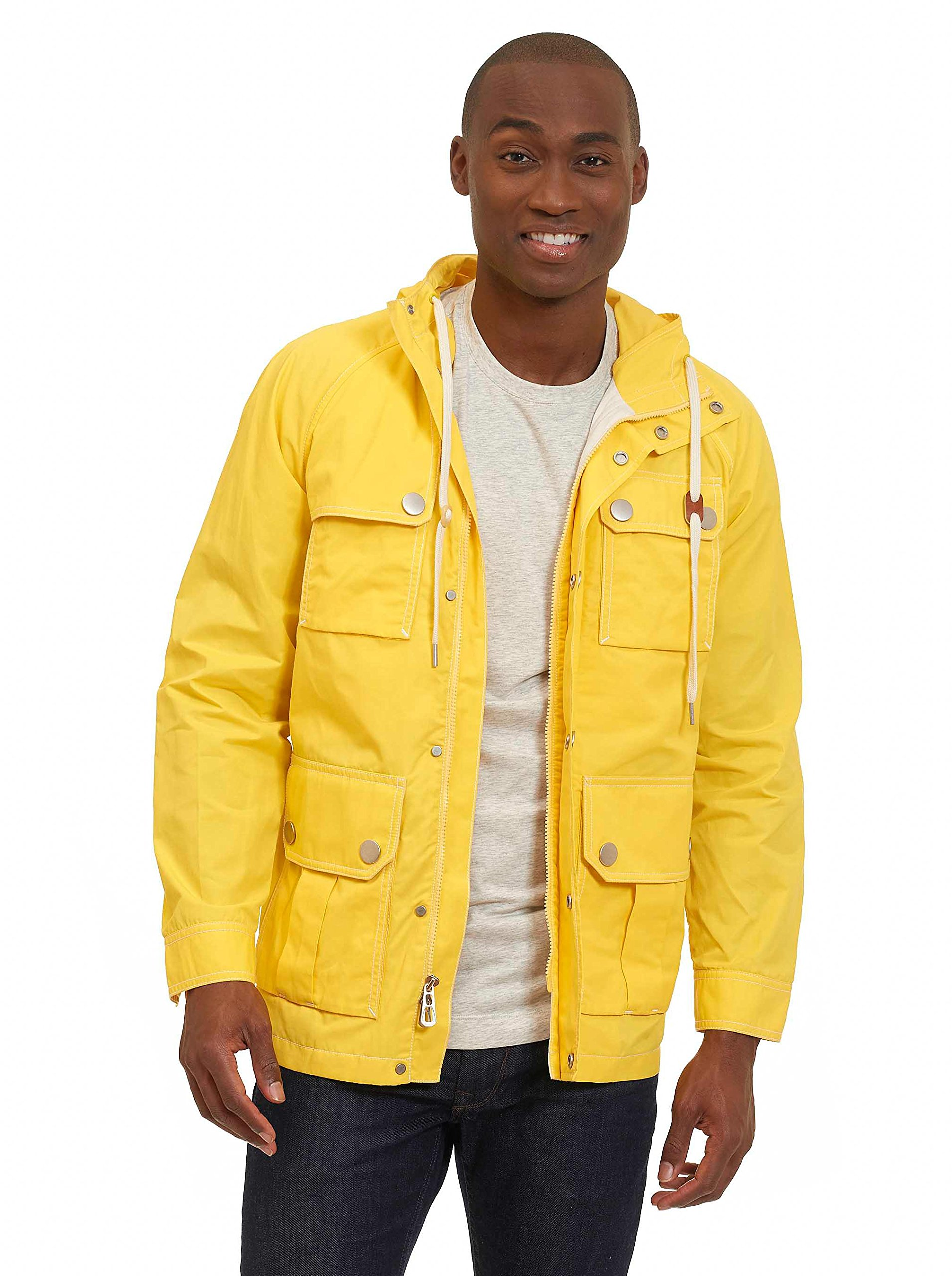 Robert Graham Men's Lake Toba Outerwear, Yellow, Large
