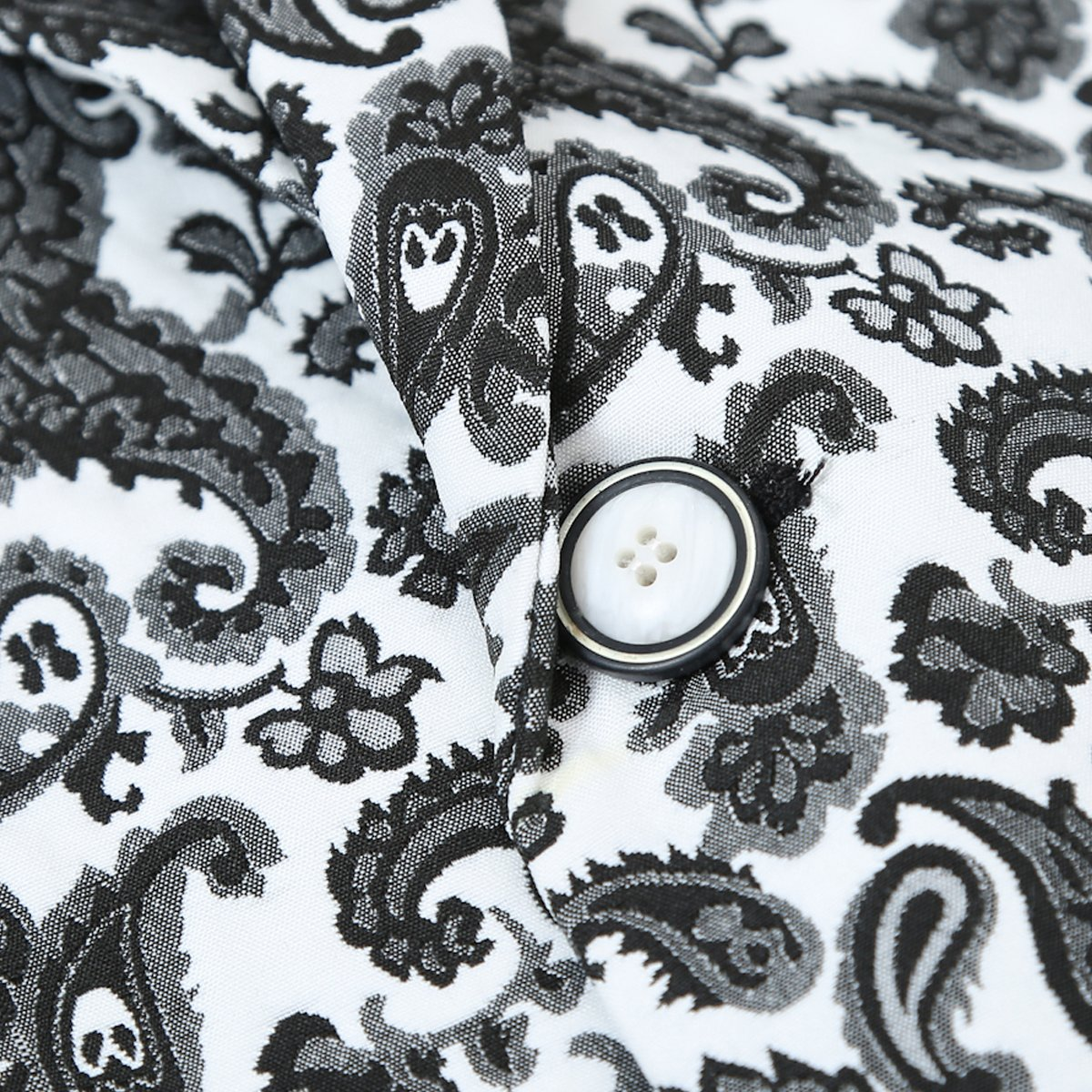 Mens Formal Slim Fit Dinner Sports Coat One Button Floral Blazer Lightweight Coat