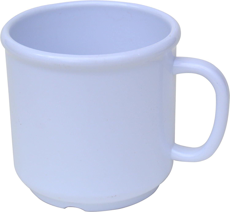 6 Pack Set - SAN Plastic - Hot Beverage Mug, White - 10 Ounce