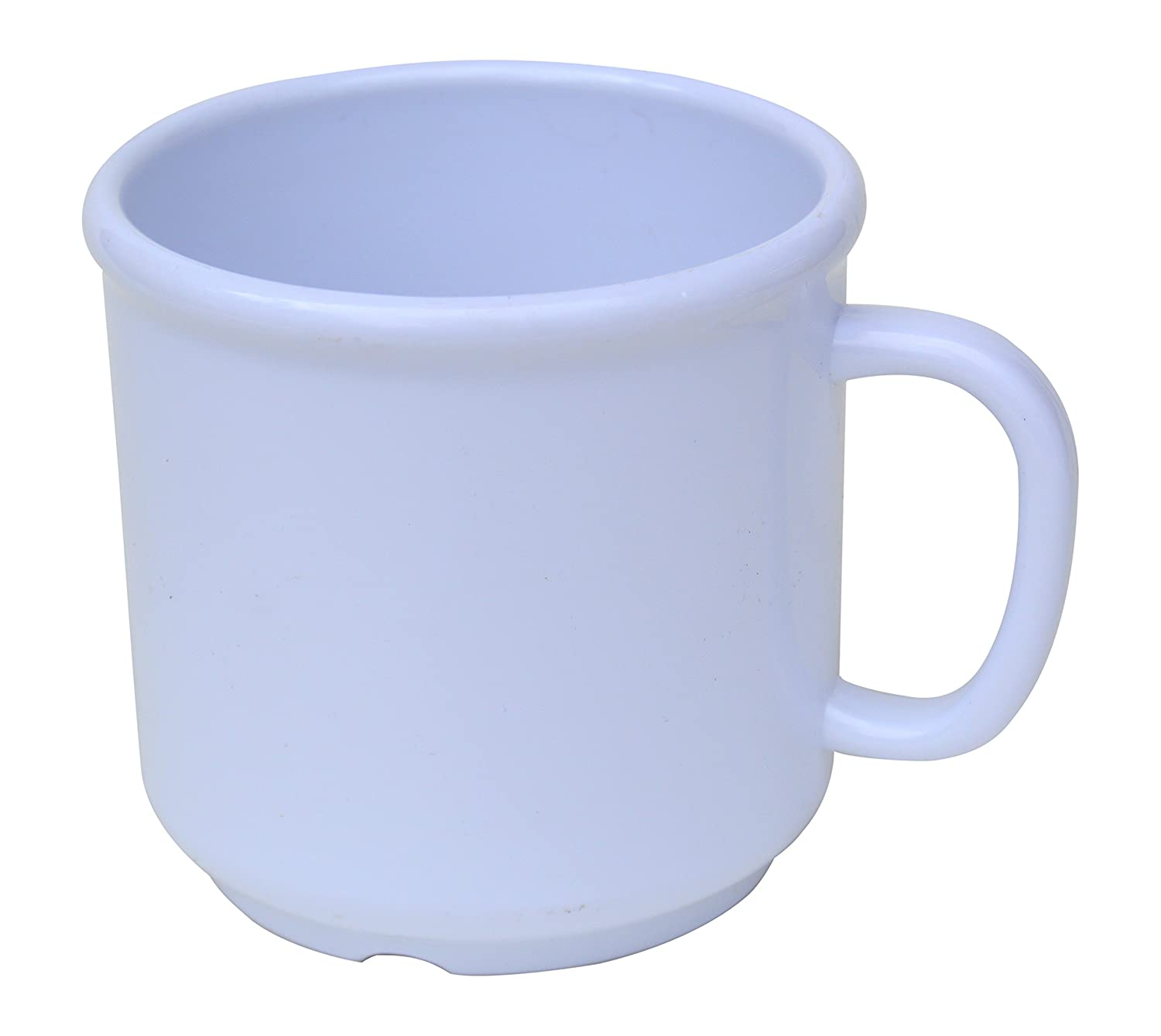 6 Pack Set - SAN Plastic - Hot Beverage Mug, White - 10 Ounce