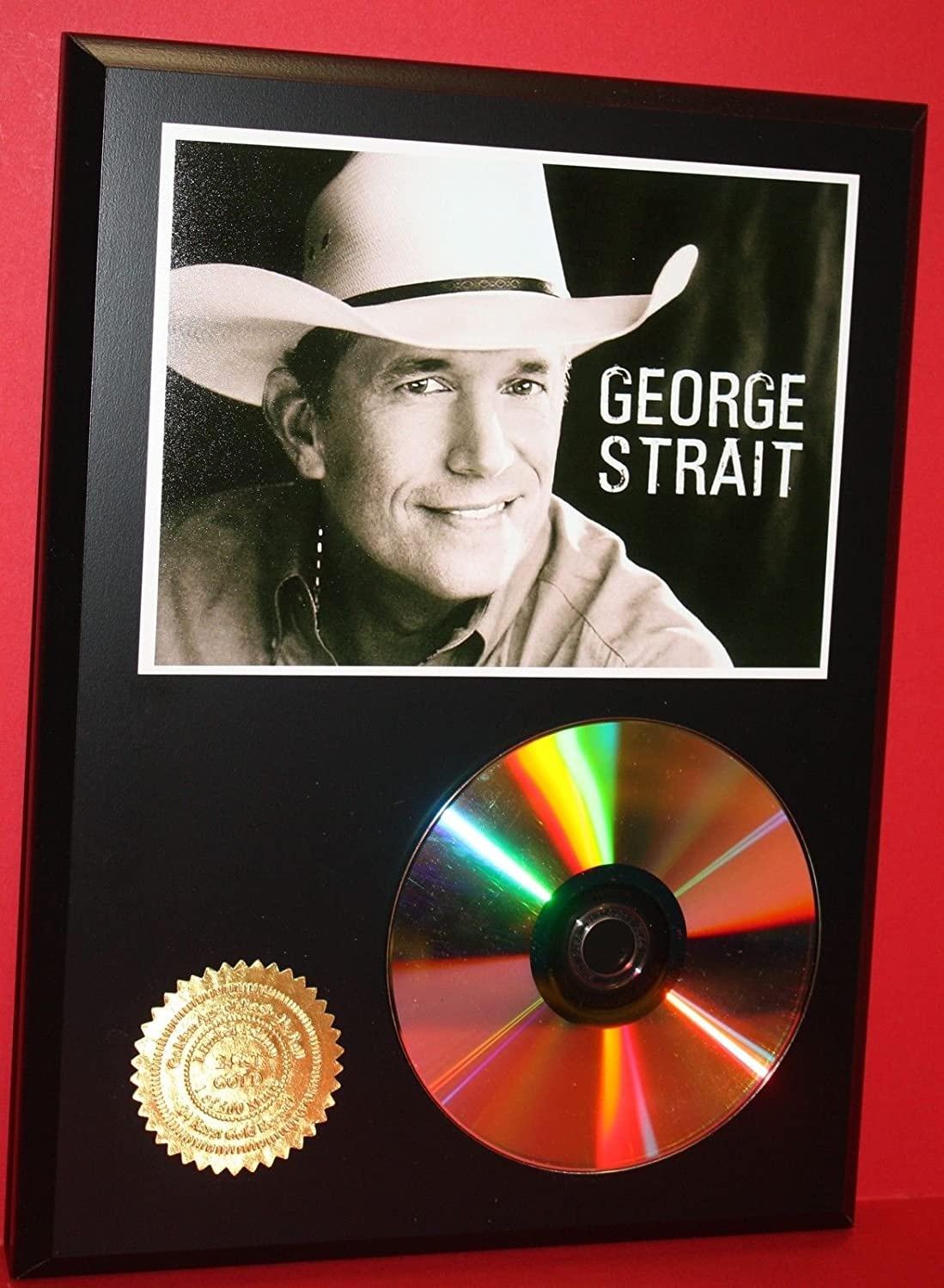 George Strait 24KT Gold Cd/Disc Collectible Rare Award Quality Plaque Gift