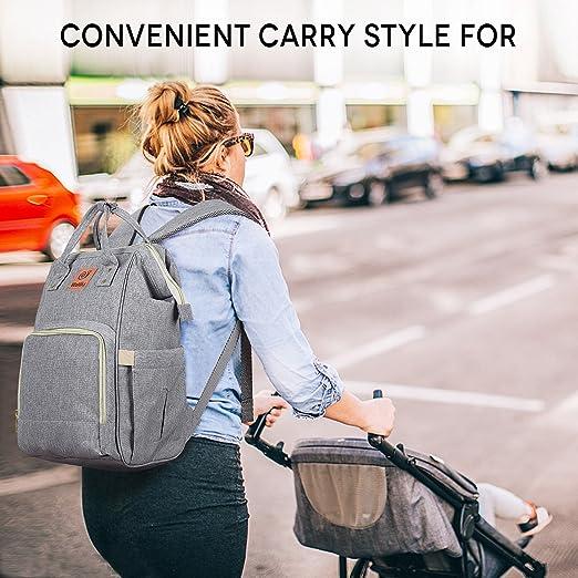 Amazon.com: Bolsa de Pañales mochila multifuncional gran ...