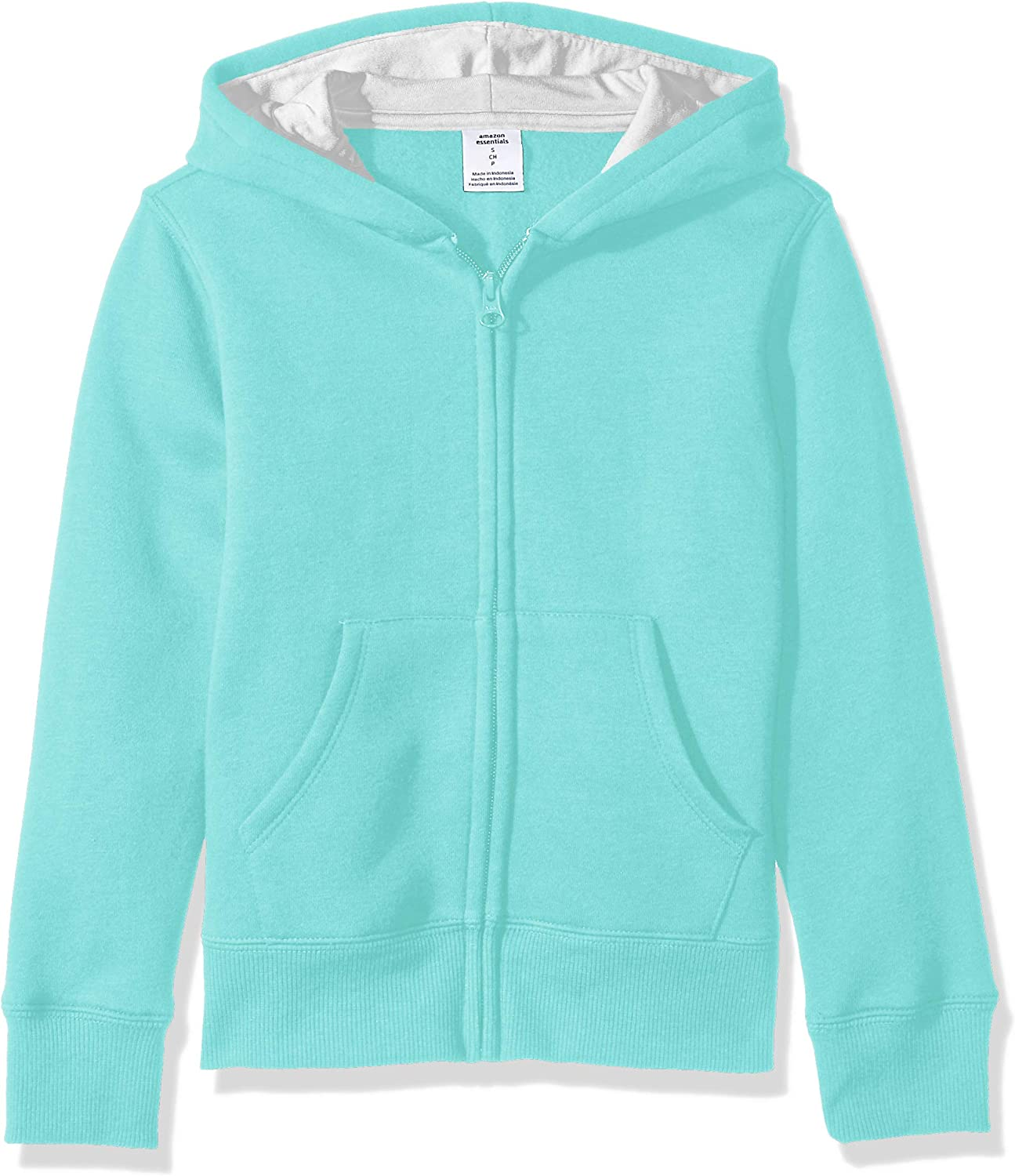 Girls Zip-Up Light Pink Hoodie Fashion Apparel for Young Women