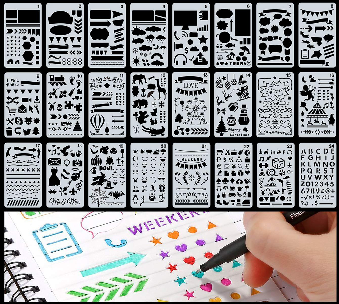 This stencil set is great for more then just scrapbooking