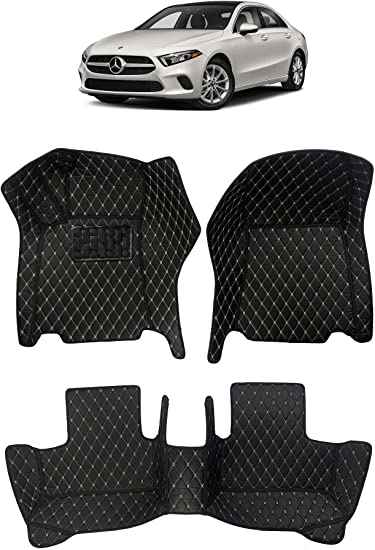 for 2015 2016 2017 2018 2019 2020 Land Rover Range Rover Sport 5 Seats Front and Rear Black Single Layer Custom Fit All Weather Heavy Duty Full Coverage Floor Mat Floor Protection