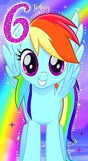 My Little Pony MP035Movie Age 6 Birthday Card
