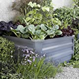 FOYUEE Galvanized Raised Garden Beds for Vegetables Metal Planter Boxes Outdoor Small Patio Bed Kit Planting Herb 2x2x1ft