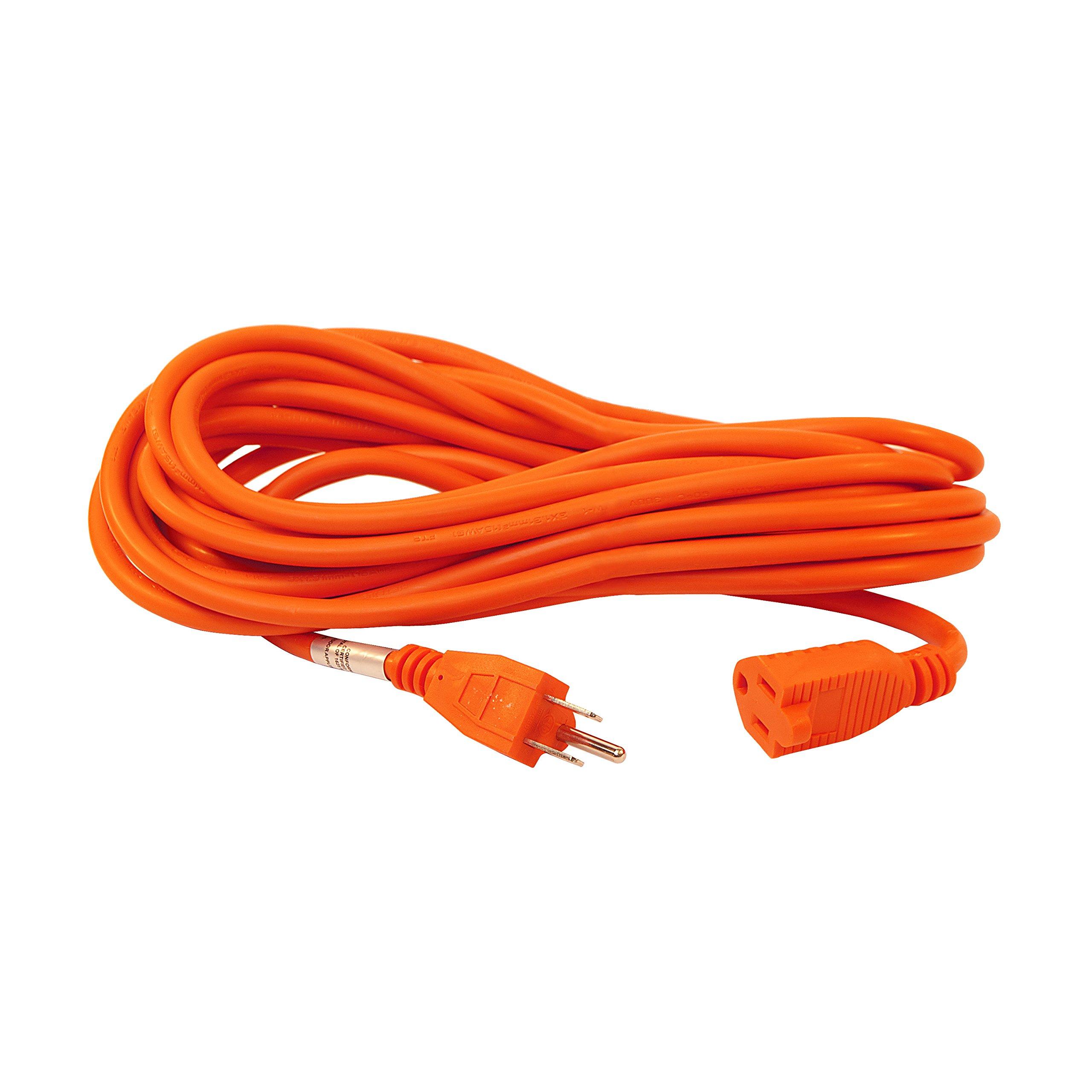 ALEKO ECOI163G20FT Heavy Duty Extension Cord Indoor Outdoor Extension Cord ETL Certified SJTW Plug 16/3 Gauge 125 Volt 20 Feet Orange