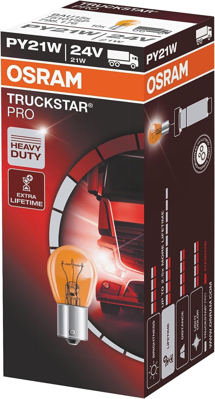 Osram 7510tsp Truckstar Pro Py21w Standlichtlampe 24v 10er Faltschachtel Anzahl 10 Auto