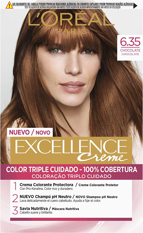 LÓreal Paris Excellence Creme 6.35 Chocolate - 1 Coloración Permanente