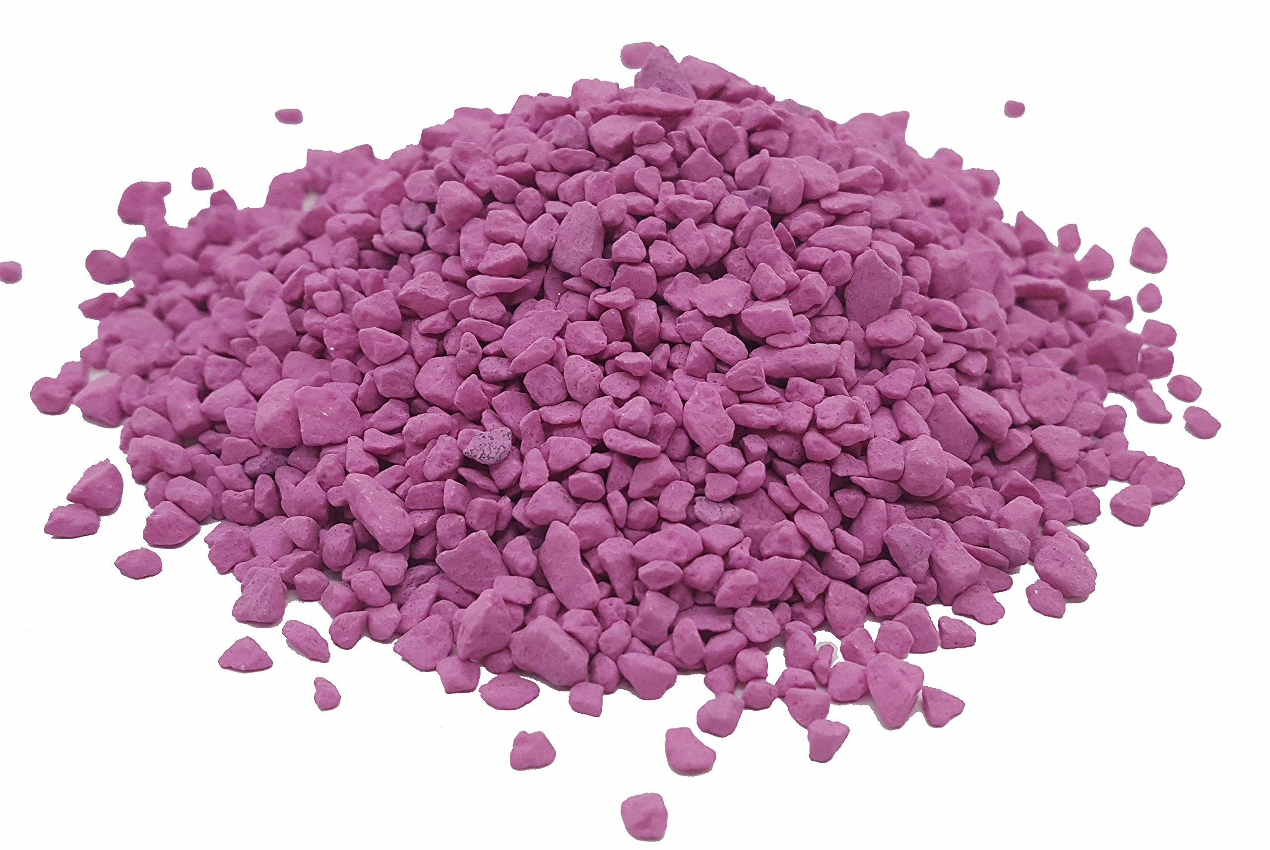 Taygum Eco-Friendly Colored Decorative Stones,, 2.2lb Bag 0.07''~0.2'' Thickness, for Landscaping, Gardening, Home-Decor, Garden Decorations, Play Grounds,Yard Decorations(Hot pink)