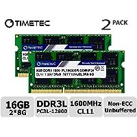Timetec 76TT16NUSL2R8-8GK2 - Actualización de memoria RAM para portátil (16GB Kit (2x8GB))