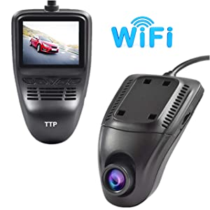 Driving Dash Cam Pro Camera, Car Front Dash Recorder Camera 4 Lanes,Driving Dvr Cam with WiFi,Sony Cmos Video Sensor,Loop Recording,G-Sensor,Invisible Design - Limited TIME Sale (TTP-C17B)