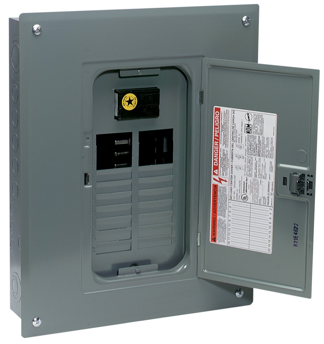 Square D By Schneider Electric Qo120m100c Qo 100 Amp 20 Space Box Also Electrical Circuit Breaker Panel Covers On Fuse Fire Indoor Main Load Center With Cover Breakers