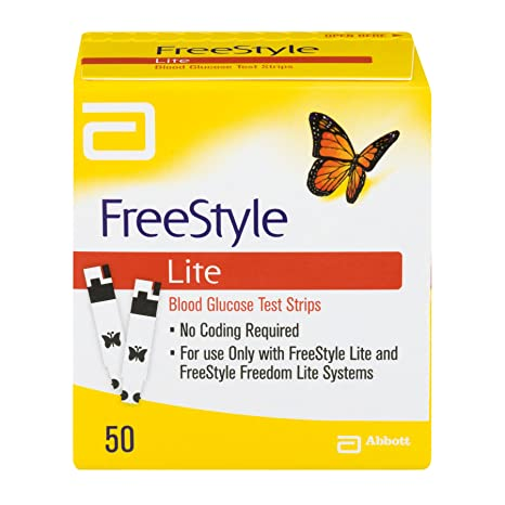 Amazon freestyle lite glucose test strips 50 count health amazon freestyle lite glucose test strips 50 count health personal care aloadofball Choice Image