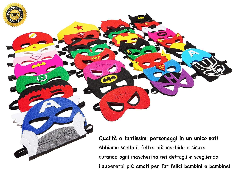 Take Inspire/® kit 32 Pezzi Braccialetti Supereroi Nuova Edizione Bambini e Adulti Feste in Maschera Carnevale Regalini Fine Festa Compleanno