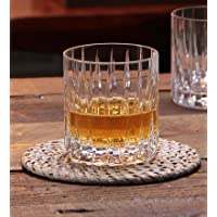 Double Old Fashioned Crystal Glasses, Set of 6 Whiskey Glasses, Perfect for Serving Scotch, Cocktails, or Mixed Drinks…