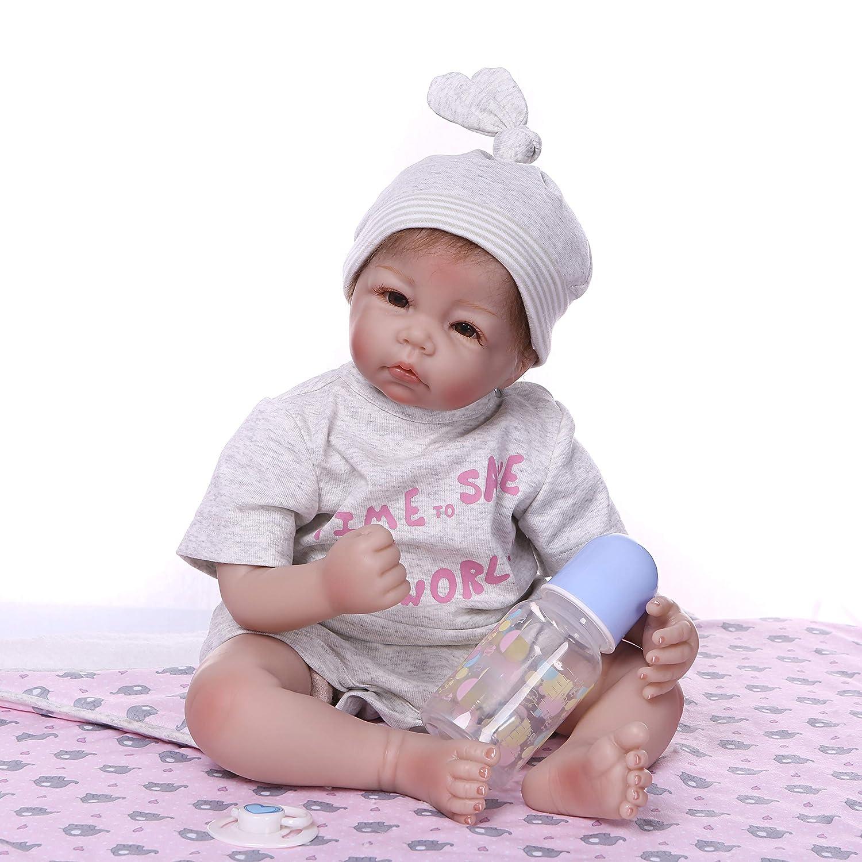 el mejor servicio post-venta ZIYIUI doll 20 Pulgadas 50 50 50 cm Muñeca Reborn Vinilo de Silicona Suave Naturales Lindo Chupete magnetico Niño Niña pequeña Regalo  oferta especial