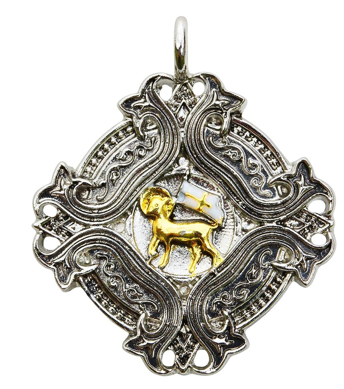 Deluxe Adult Costumes - Knights Templar Agnus Dei Talisman Pascal Lamb Amulet Pendant