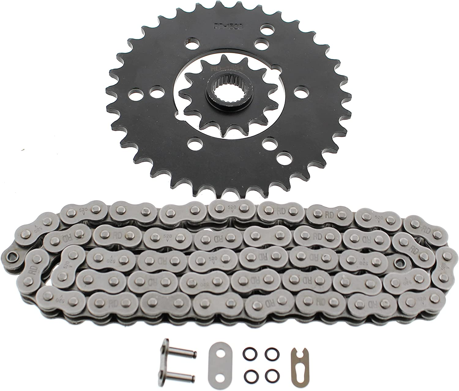 Non O-Ring Chain /& Sprocket Sprocket 2001 2002 Polaris Xplorer 400 4X4 13//36 76L
