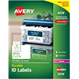 "Avery Durable White Cover Up ID Labels for Laser Printers, 2"" x 2.625"",  Pack of 750 (6578)"