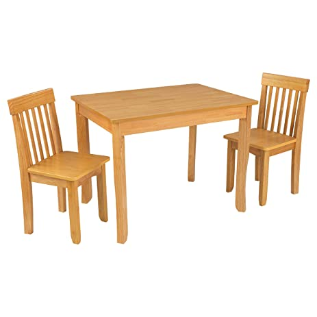 Amazon.com: KidKraft Avalon Table II & Chairs Set, Natural: Toys & Games