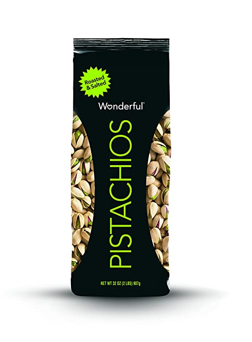Wonderful Pistachios, Roasted and Salted, 32 Ounce Bag